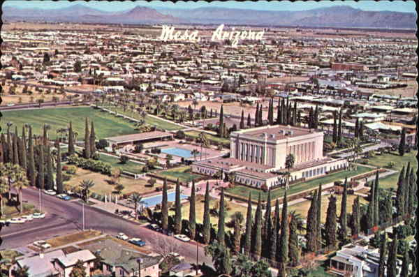 Aerial View Of Mormon Temple Mesa Arizona
