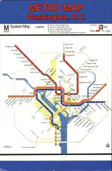 Metro Map Washington District of Columbia