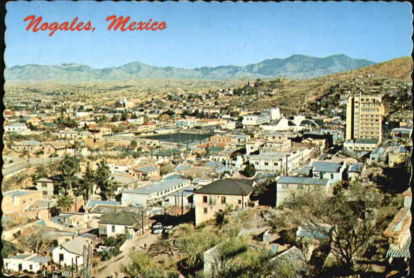 Semi-Aerial View of Nogales Mexico