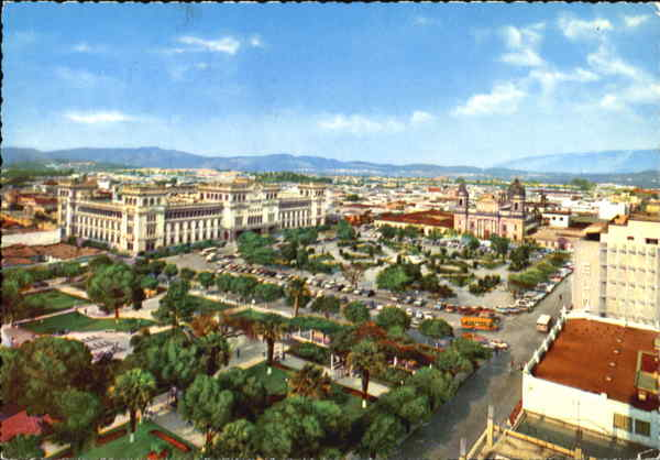 View Of Central Park, Cathedral and Nationa Palace Guatemala