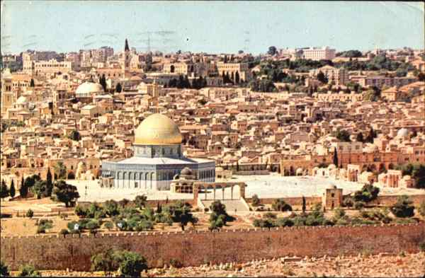 Jerusalem Old City Panorama Israel Middle East