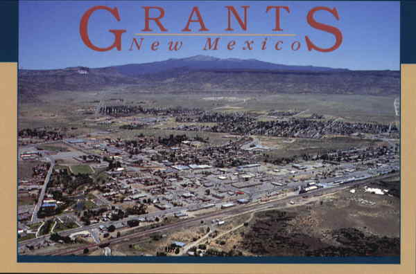 Aerial View Of Grants New Mexico