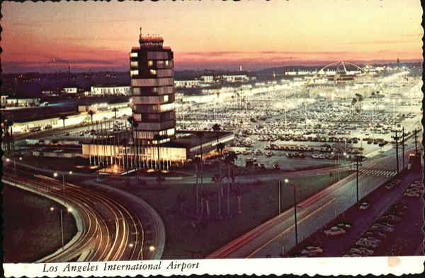 Sunset At Los Angeles International Airport California