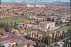 Aerial View Of Mormon Temple