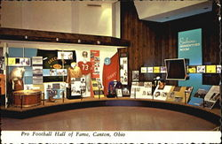 Pro Football Hall Of Fame Postcard