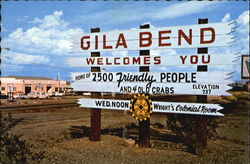 Gila Bend Welcomes You Postcard