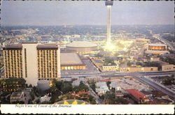 Night View Of Tower Of The Americas Postcard