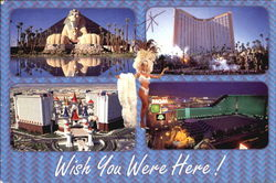 Four Of Las Vegas Most Famous Hotel / Casinos Postcard