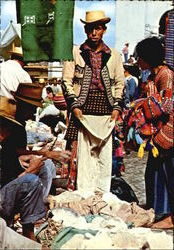 Market with Indians of Chichicastenango Postcard