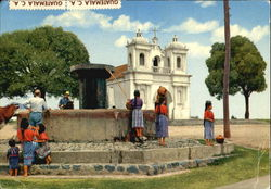 Fountain And Church Of Patzun, Chimaltenango