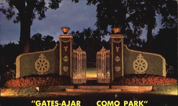 Gates Ajar Night View, Como Park St. Paul Minnesota