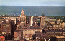 View From Board Of Trade Observation Tower Postcard