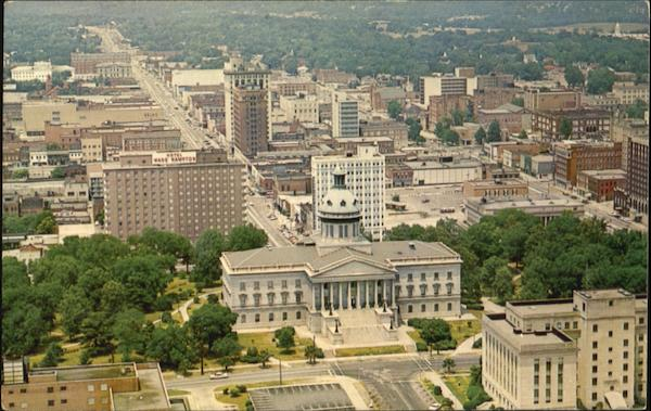 Aerial View Of Downtown Columbia And South Carolina State House