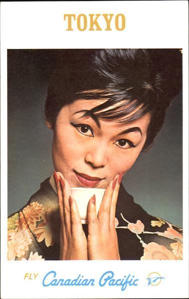 Canadian Pacific Tokyo Vintage Postcard