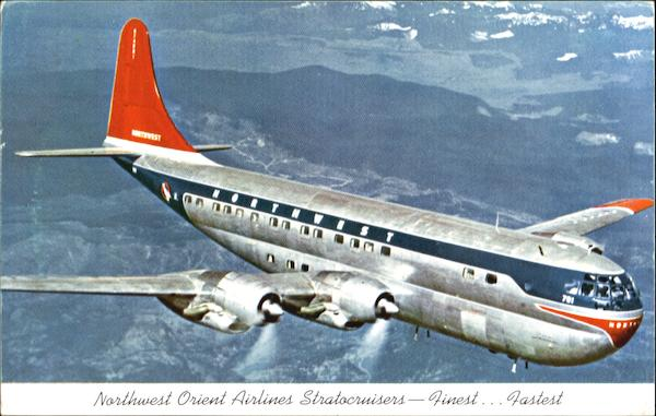 Northwest Orient Airlines Stratocruisers Aircraft