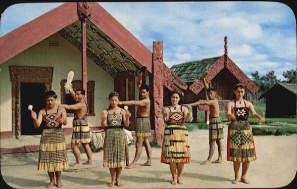 Poi Dance At Model Pa New Zealand Australia, NZ, South Pacific