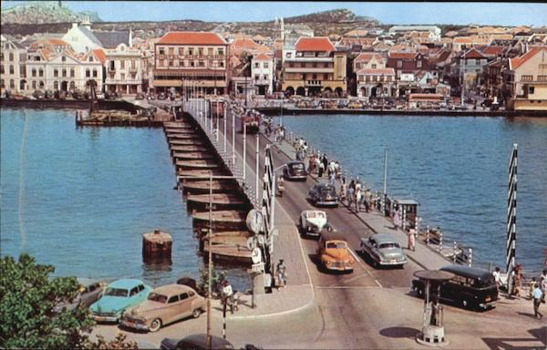 Queen Emma Pontoon Bridge Curacao Netherlands Antilles