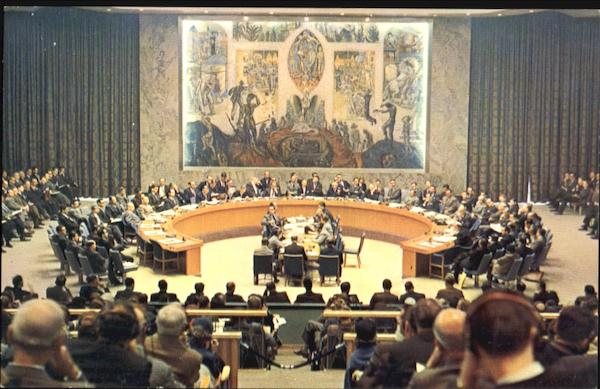 UN Security Council Chamber New York City
