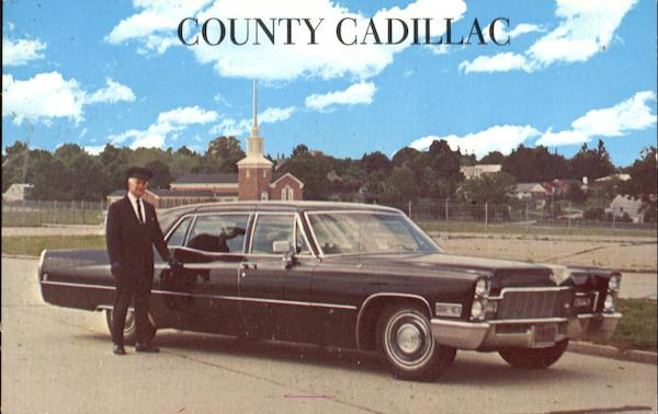 County Cadillac Limousine Service Advertising Cars