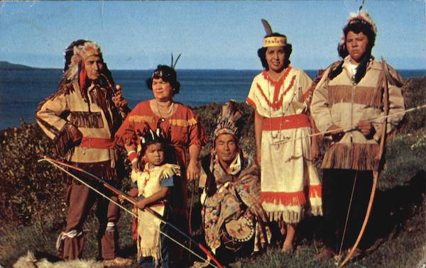 Indians In Tribal Dress Wikwemikong Ontario Canada