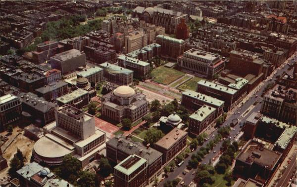 Aerial View Of Columbia University Section New York City