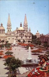 Liberation Plaza And Cathedral Postcard
