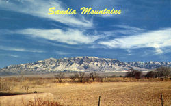 Majestic Snow Covered Sandia Mountain Range