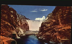 The Spectacular View Of Hoover Dam Postcard