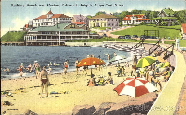 Bathing Beach And Casino, Falmouth Heights Cape Cod Massachusetts
