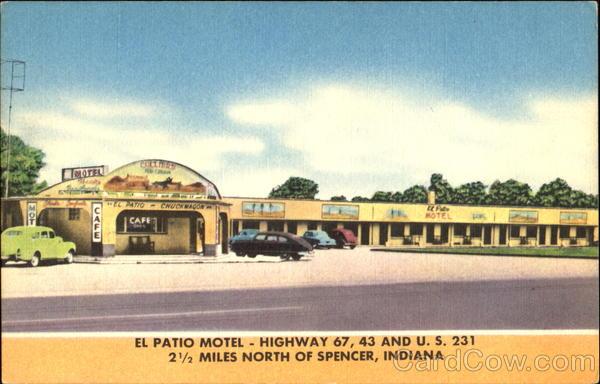 el patio motel highway 67 43 and u s 231 spencer in. Black Bedroom Furniture Sets. Home Design Ideas