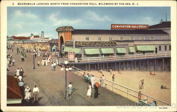 Boardwalk Looking North From Conventional Hall Wildwood New Jersey