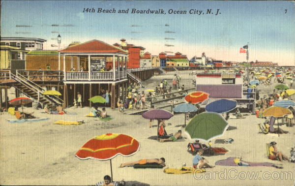 14Th Beach And Boardwalk Ocean City New Jersey