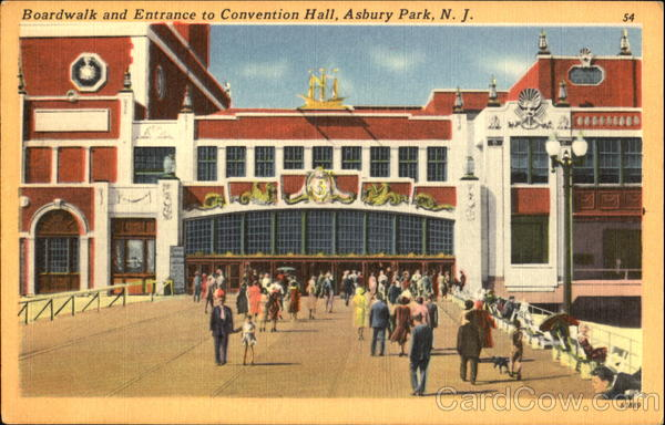 Boardwalk And Entrance To Convention Hall Asbury Park New Jersey