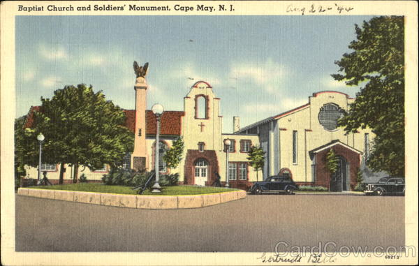 Baptist Church And Soldiers Monument Cape May New Jersey