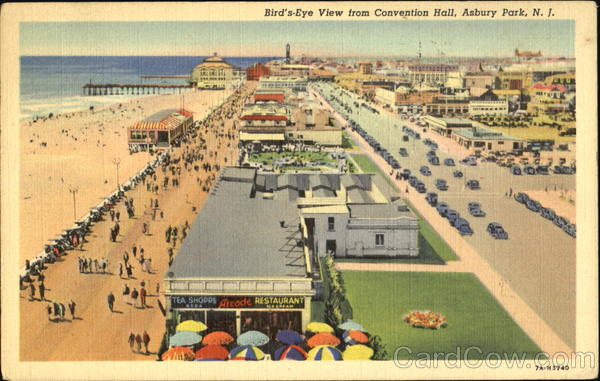 Bird's Eye View From Convention Hall Asbury Park New Jersey