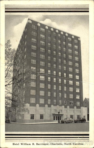 Hotel William R. Barringer Charlotte North Carolina