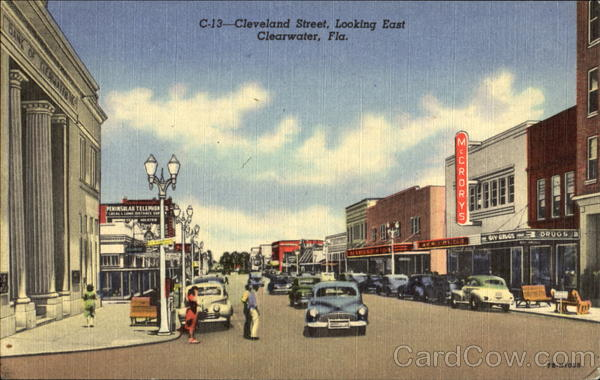 Cleveland Street Looking East Clearwater Florida