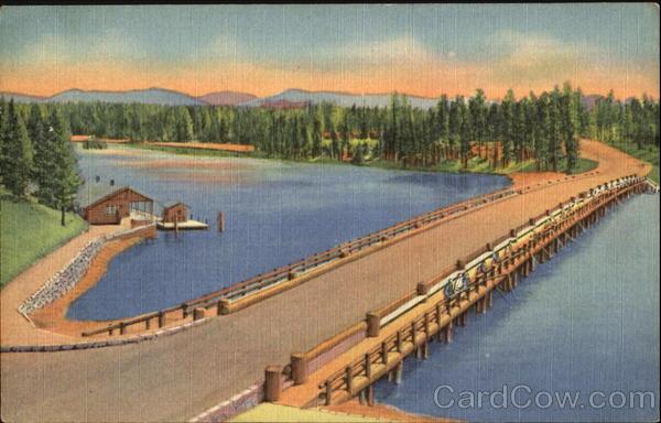 Le Fishing Bridge, parc national de Yellowstone   Photo