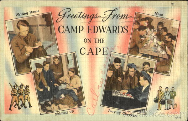 Greetings From Camp Edwards Cape Cod Massachusetts