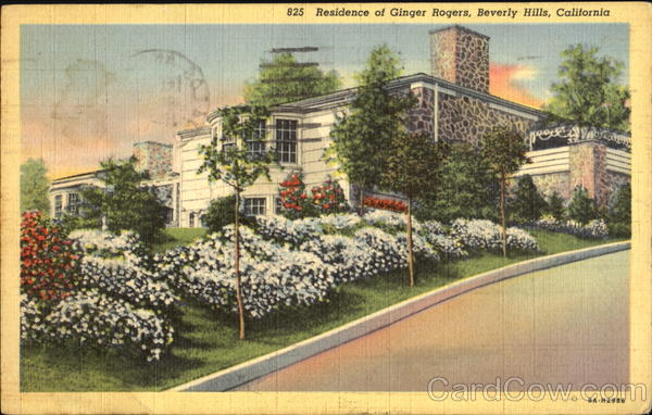 Residence Of Ginger Rogers Beverly Hills California