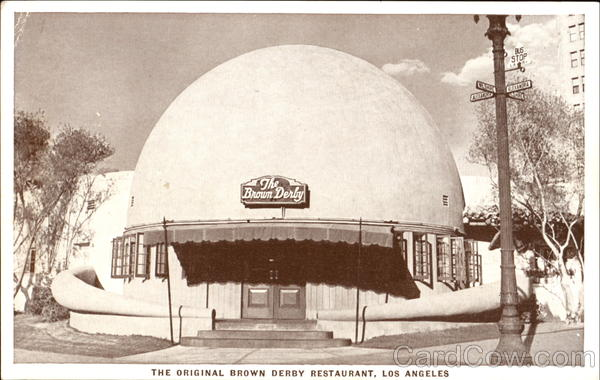 The Brown Derby Restaurant Los Angeles California