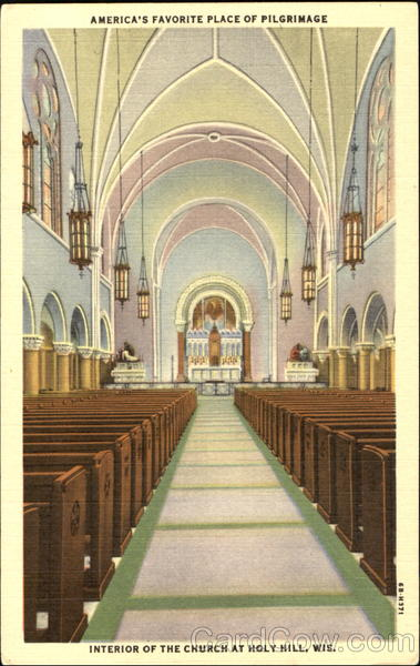 Interior Of The Church At Holy Hill Wisconsin