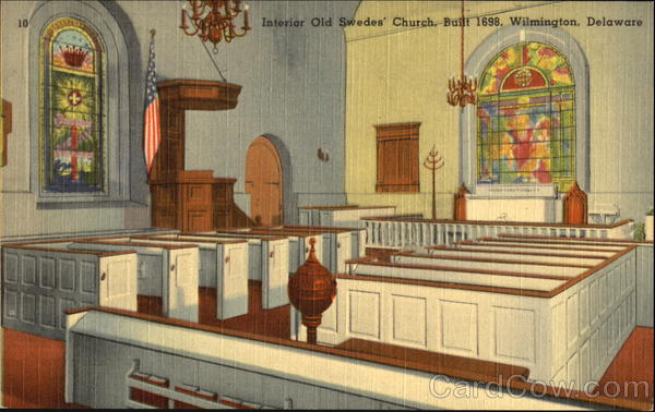 Interior Old Swedes Church Wilmington Delaware