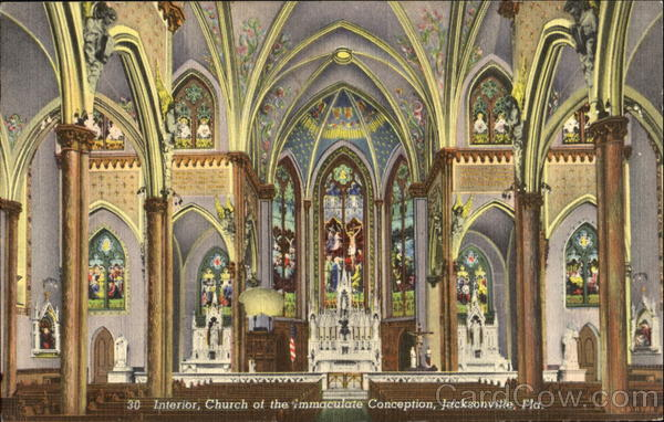 Interior Church Of The Immaculate Conception Jacksonville Florida