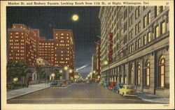 Market St. And Rodney Square At Night