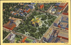 Air View Of State Capitol And Grounds Postcard