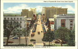 View Of Fayetteville Street From State Capitol