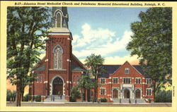 Edenton Street Methodist Church And Poindexter Memorial Educational Building Postcard