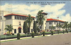 City Hall And Harry S. Mayhall Auditorium Postcard