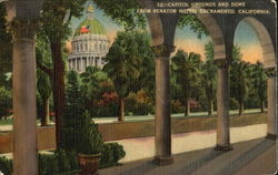 Capitol Grounds And Dome From Senator Hotel Postcard